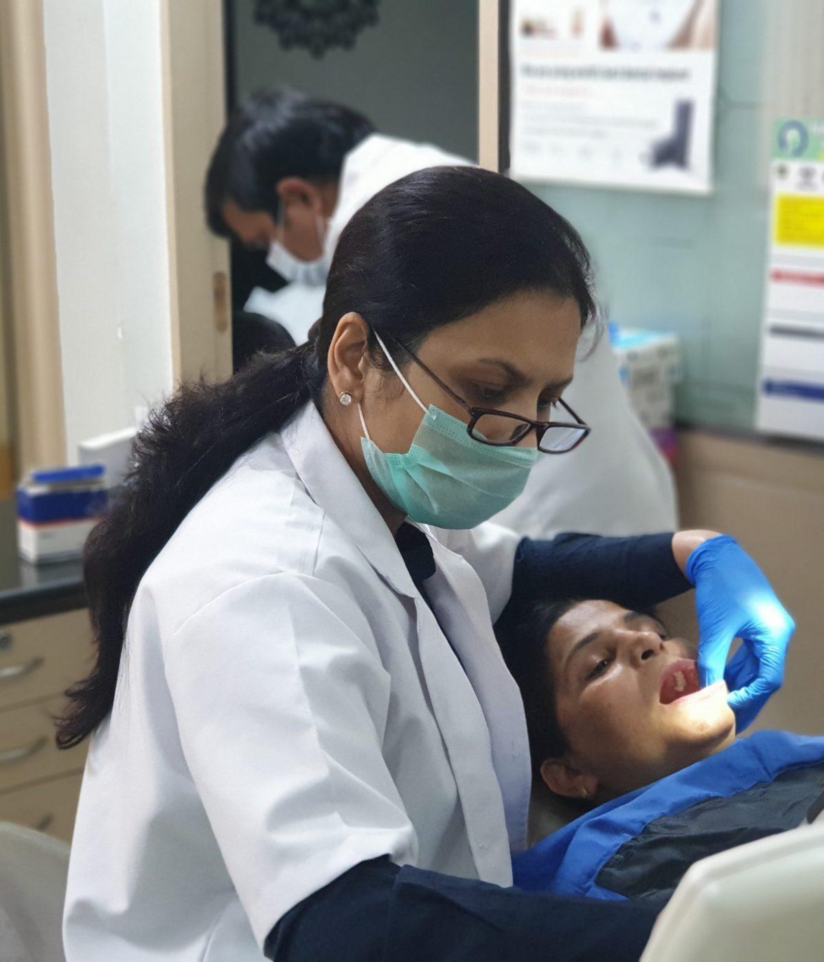 dental treatment by Dr. Rukman